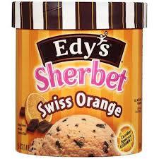 edy's sherbet swiss orange container