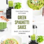 green spaghetti sauce