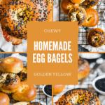 homemade egg bagels