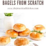 rosemary olive oil bagels from scratch