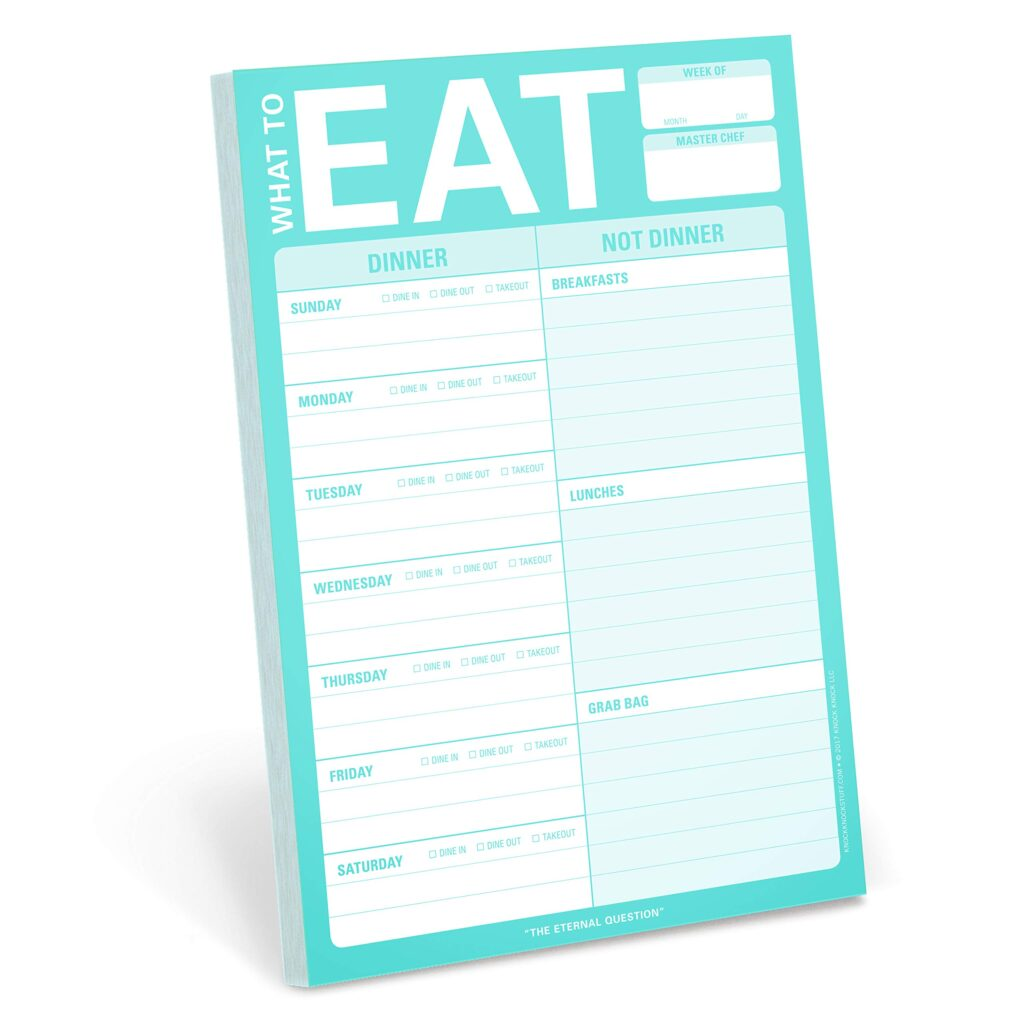 what to eat meal planning pad