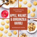 apple walnut and gorgonzola ravioli