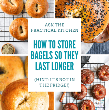 do bagels need to be refrigerated pinterest graphic