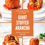 giant stuffed arancini recipe