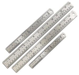 a set of metal rulers are ideal for pastry school