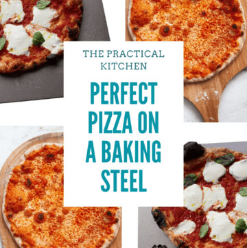 perfect pizza on a baking steel