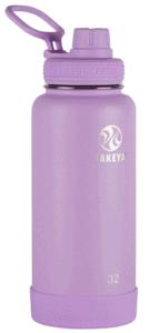 takeya actives 32 ounce water bottle in purple