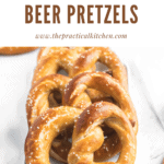 soft sourdough beer pretzels