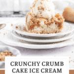 crumb cake ice cream
