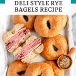 homemade deli style rye bagels recipe