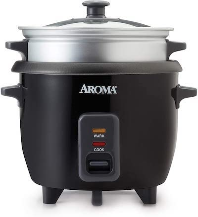 a mini 3 cup rice cooker with steamer basket perfect for a college kitchen
