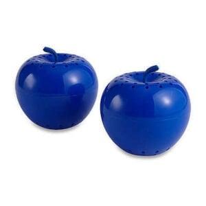 two plastic bluapple produce drawer fresheners