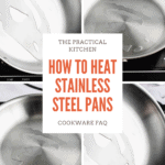 how to heat stainless steel pans