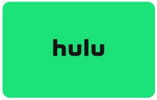 a bright green hulu gift card