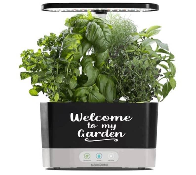 welcome to my garden aerogarden decal