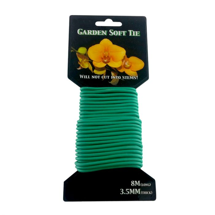 green soft tie for plants