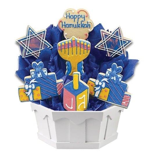 hanukkah cookie bouquet