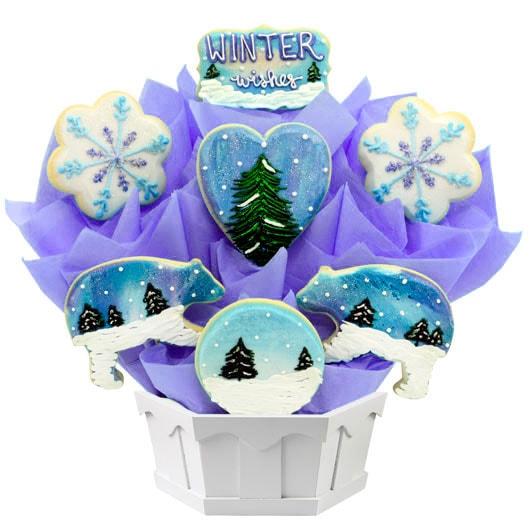 winter cookie bouquet