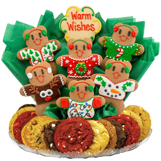 ugly sweater bears cookie tray