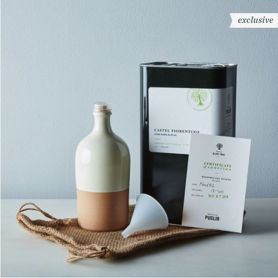 olive oil and olive tree gift
